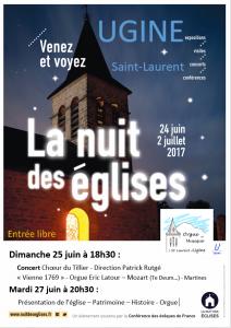 Affiche Nuit des Eglises 2017