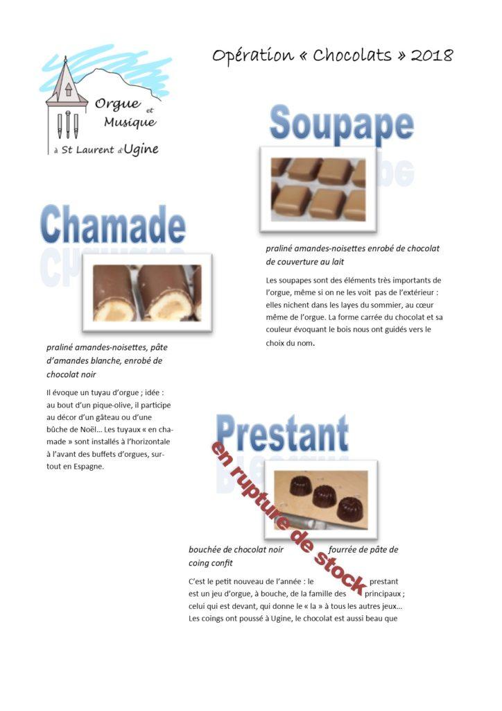 opération chocolats